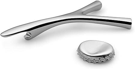 10.6 x 5.6 x 1.4 cm Silver Alessi Virgula FGO06 Divina Bottle Opener 18//10 Stainless Steel Mirror Polished