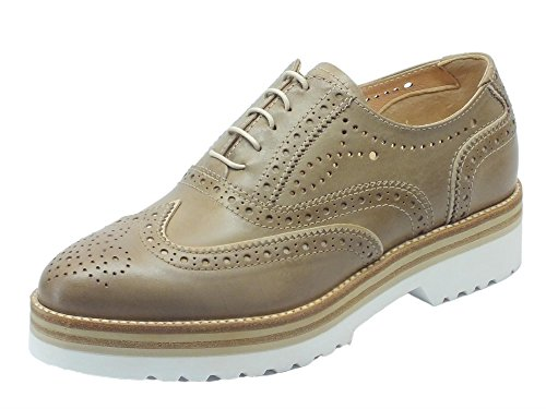 Mujer Para Piel Nero de Cordones Zapatos Sabbia Sabbia Musk Tortora Giardini P805221d de Tortora PwqU6AB