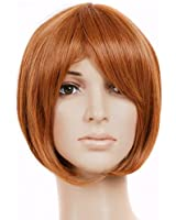 Red Brown Short Length Anime Cosplay Costume Wig