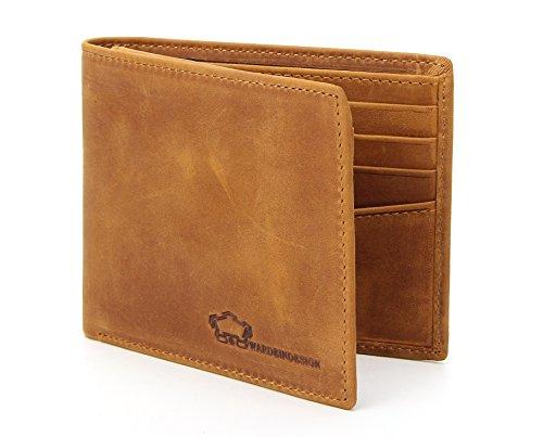Wardeindesign Mens Leather Wallet Bifold RFID Designer engraved - and leather key fob