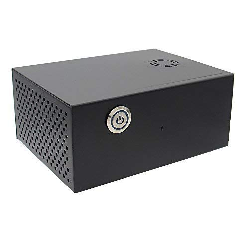 Raspberry Pi X830 HDD SATA Storage Board Matching Metal Case/Enclosure + Power Control Switch + Cooling Fan Kit