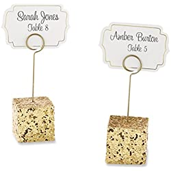 Kate Aspen Gold Glitter Placecard Holders (Set of 6)