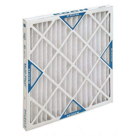 High Capacity Pleated Air Filter, 20″x20″x2″, MERV 11, Min. Qty 12, (Pack of 12)