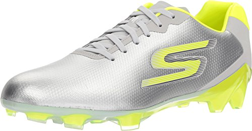 Skechers Men's Performance Soccer Cleat,Gray/Lime,US 13 M ()