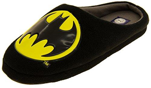 DC Comics Mens Batman Black Textile Fleecy Mule Slippers US 8