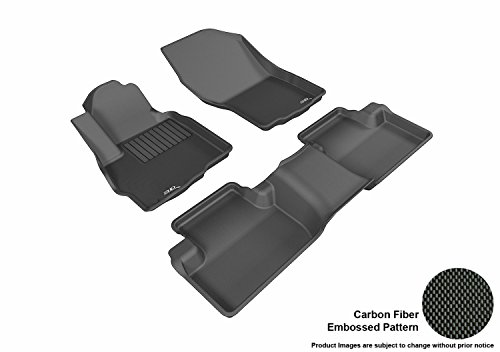 3D MAXpider All 2 Row Custom Fit Floor Mat for Select Mitsubishi Outlander Sport Models - Kagu Rubber ()