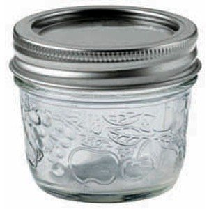 Bernardin 20125 125ml Regular Mouth Mason Jar, Clear - Pack of 12