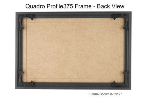 Quadro Frames 12x24 inch Picture Frame, Black, Style P375-3/8 inch Wide Molding, Box of 2