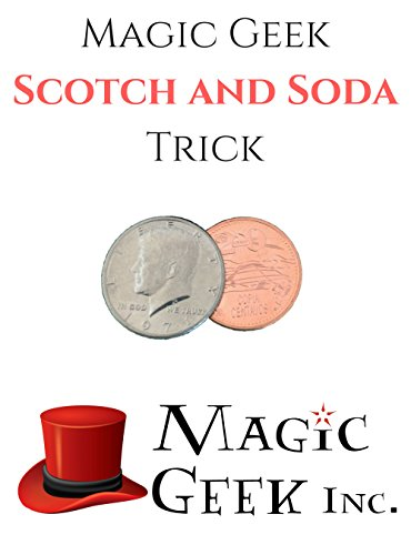 Magic Geek, Inc.TM Scotch and Soda Coin Trick, Includes Instructions and Bang Ring