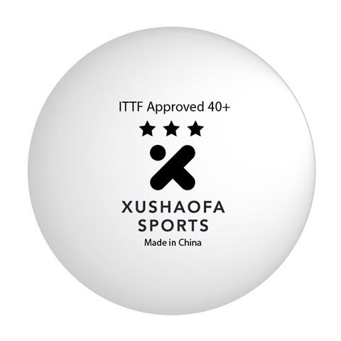 Xushaofa Seamless 3-Star Premium Poly Table Tennis Balls (Quantity 72) by Xushaofa Seamless