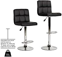 Pleasing Bestoffice Counter Height Bar Stools Set Of 2 Pu Leather Swivel Barstools For Kitchen Stool Height Adjustable Counter Stool Barstools Dining Chair Dailytribune Chair Design For Home Dailytribuneorg