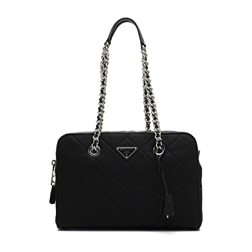 Prada Women's Black Tessuto Nylon Handbag 1BB903 (Nylon Handbag Prada)