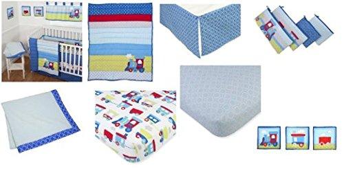 Sumersault 10 Piece Crib Bedding Set, Choo Choo by Sumersault