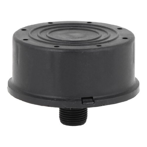 DealMux 16ミリメートルスレッドダイヤスレッド黒いプラスチック製のコンプレッサーマフラー B072TR2Y6P