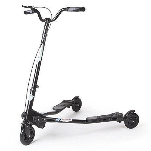 3 Wheel Scooter - AODI 3 Wheels Scooter Swing Motion Speeder Foldable Kickboard Scooter Air Push Slider Wiggle Scooter Over 7 Year Older - Multiple Colors