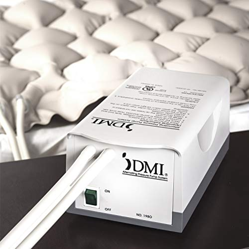 DMI Alternating Pressure Pad, Alternating Pressure Mattress Pad with Quiet Pump, Twin Size, Tan