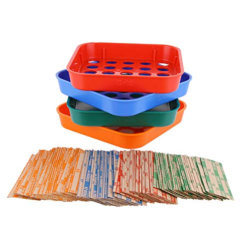 Coin Sorters Tray & Coin Counters - 4 Color-Coded Coin Sorting Tray Bundled with 56 Assorted Flat Coin Roll Wrappers for US Coins