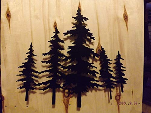 Beautiful Metal 3D Pine Trees
