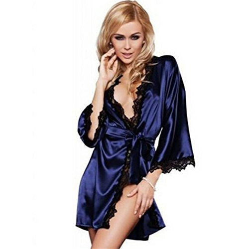 Musamk Sexy lingerie sexy dress lace chiffon erotic lingerie Women Pajamas robes sexy underwear costume for women CM
