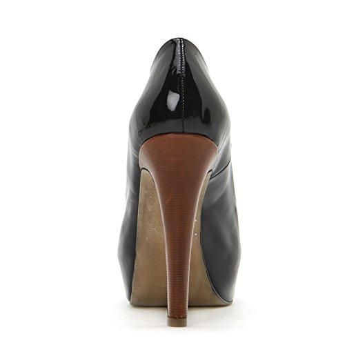 ALESYA by Scarpe&Scarpe - Zapatos de salón de charol sin punta Negro