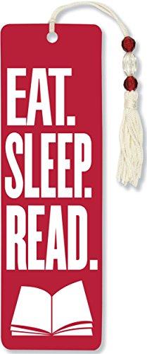 Eat, Sleep, Read Beaded Bookmark