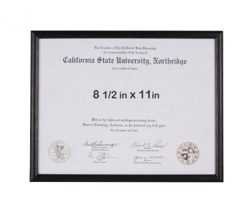 8.5x11 Basic Black Certificate or License Frame - Wood - 3-pack by Endearing Frames (Image #2)