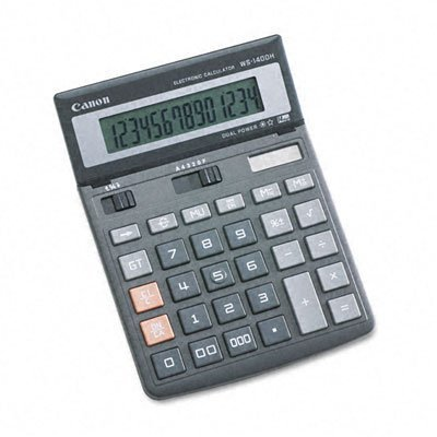 4 X Canon Office Products WS-1400H Business Calculator