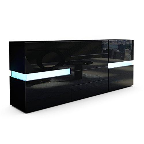 kommode schwarz matt. Black Bedroom Furniture Sets. Home Design Ideas