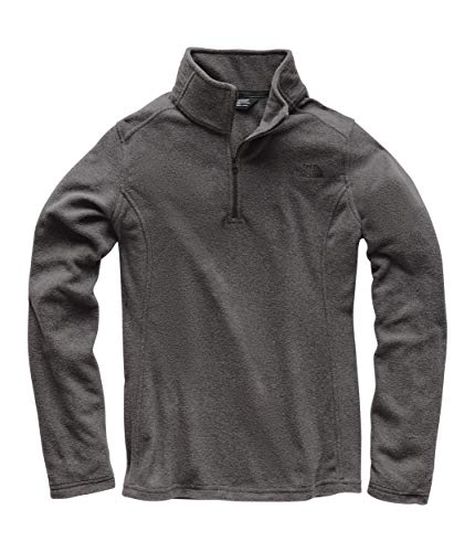 Neck Shirt Fleece Zip (The North Face Women Glacier Quarter Zip - TNF Dark Grey Heather & TNF Black - XL)