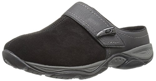 - Easy Spirit Women's Eliana Mule,Black/Black Suede,6 W US