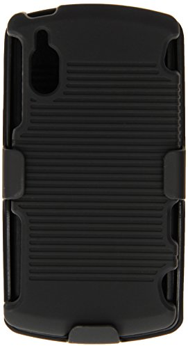 Amzer AMZ94835 Shellster Shell Holster Combo Case Cover for Sony Ericsson Xperia Play/Play 4G - 1 Pack - Retail Packaging - Black (Sony Case Phone Ericsson)