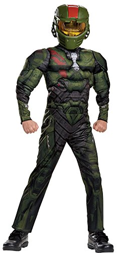 Video Costumes Popular Game (Boys Halloween Costume-Halo Wars Jerome Muscle Kids Costume Medium)