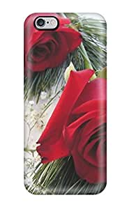 Oscar M. Gilbert's Shop Rugged Skin Case Cover For Iphone 6 Plus- Eco-friendly Packaging(red Roses)