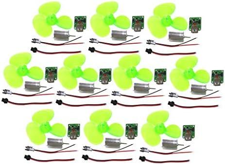 CUTICATE 10x Windgenerator Kunststoff Windgenerator Motor DIY Montage Lehrmodell