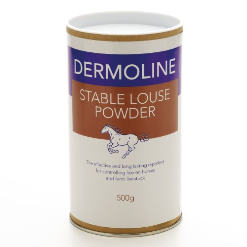 Dermoline Stable Louse Powder 500g- repellent against lice and other external parasites by William Hunter Equestrian