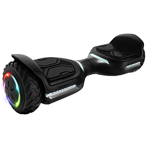 Jetson Electric Bike Nitro Hoverboard with LED Light-Up Wheels, Bluetooth Speaker, App-Enabled Customizable LED Front Lights, UL 2272 Certified