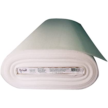 Image of Bosal Fusible Non-Woven All Purpose Heavyweight Interfacing, 27-Inch by 25-Yard, White Batting