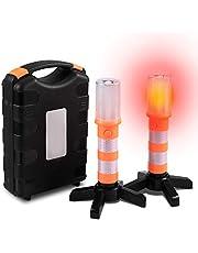 Sailnovo Led-waarschuwingslamp, draagbaar, waarschuwingsflitser, rode straatverlichting