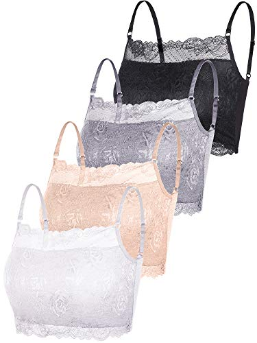 e Cami Stretch Lace Half Cami Breathable Lace Bralette Top for Women Girls (Color Set 3, XX-Large) ()