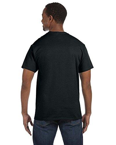Jerzees 5.6 oz., 50/50 Heavyweight Blend T-Shirt, Medium, BLACK ()