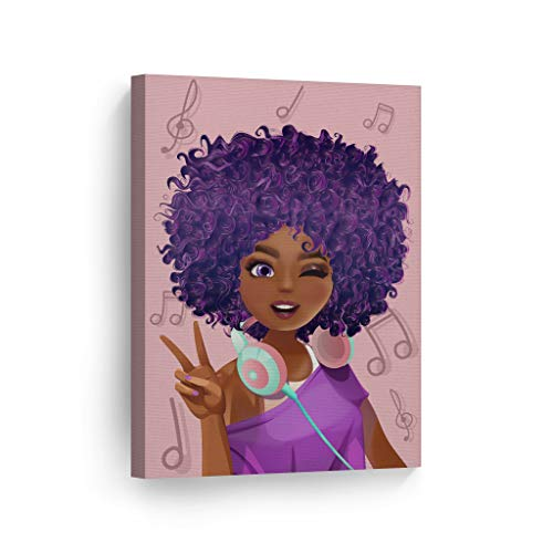 Purple Haired African Girl