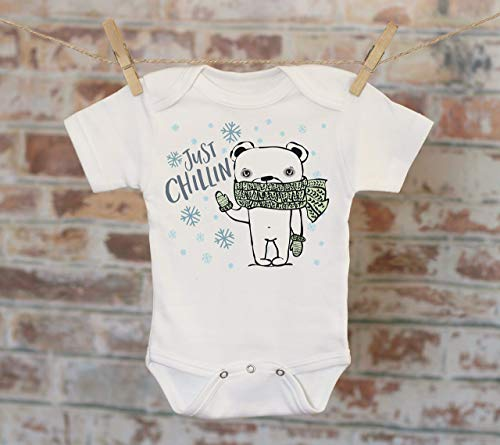 Just Chillin' Polar Bear Onesie®, Winter Onesie, Funny Onesie, Cute Baby Bodysuit, Cute Onesie, Boho Baby Onesie, Funny Onesie ()