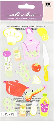 Recipe Scrapbook Stickers - Sticko Classic Stickers-Cooking