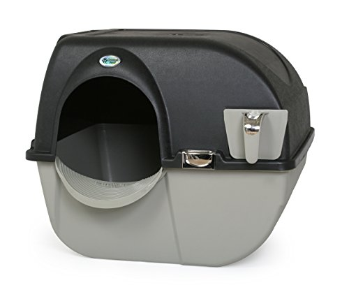 Omega Paw Elite Self Cleaning Roll 'n Clean Litter Box, Midnight Black, Large (Best Kitty Litter Box)