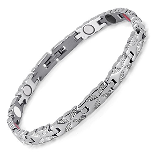- Lifestyle Stainless Steel Magnetic Therapy Bracelet Pain Relief for Arthritis and Carpal Tunnel. Magnets, far infrared, germanium, negative Ion bracelet (silver)