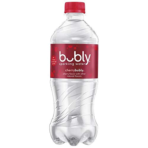 Bubly Cherry Sparkling Water 20 oz Bottles - Pack of 24 by Bubly