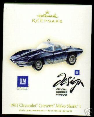 2007 Hallmark Keepsake Ornament 1961 Chevrolet Corvette Mako Shark I