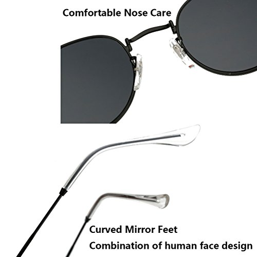 Mode Estuche con amp;Silver Calidad Anteojos de Sunglasses UV Gafas Designer Metal Silver for Round Women Zhhlinyuan Protection Oversized de Sport Sol Men dfqSxC