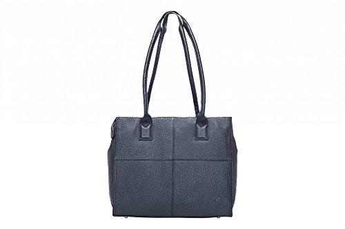 VOi Damen Shopper 21876 Schuhltertasche aus Leder Serie Hirsch in Schwarz GJPoLO