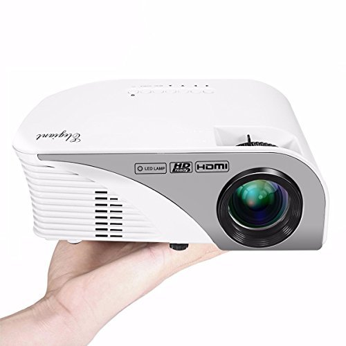 Portable Projector,ELEGIANT 1200 Lumens Mini Multimedia Home Theater LED Projector,Support Full HD 1080P AV/VGA/SD/USB for Video Game,Movie Night,Family Videos and Picture